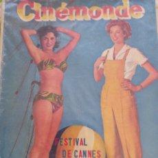 Cine: GINA LOLLOBRIGIDA CINEMONDE 1952. Lote 270359143
