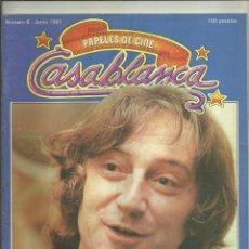 Cine: CASABLANCA, Nº 6, JUNIO 1981. QUEREJETA, GEORGE LUCAS, COPPOLA, SUMMERS, SCORSESE.. Lote 271537988