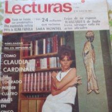 Cine: CLAUDIA CARDINALE LECTURAS 1967 LE FALTA LA PÁGINA DE SARA MONTIEL. Lote 271634943