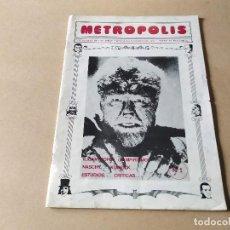 Cine: METROPOLIS Nº 1 - ENERO 1978 - PAUL NASCHY - RAQUEL WELCH - STEPHEN KING - LICANTROPÍA - VAMPIRISMO. Lote 294140128