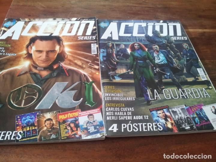 LOTE 5 REVISTAS DE CINE ACCION - Nº 2101, 2102, 2103, 2104, 2105 CONTIENEN LOS POSTERS (Cine - Revistas - Acción)