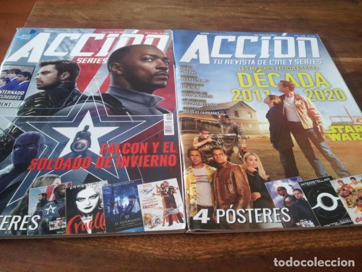 Cine: lote 5 revistas de cine Accion - Nº 2101, 2102, 2103, 2104, 2105 contienen los posters - Foto 2 - 272127313