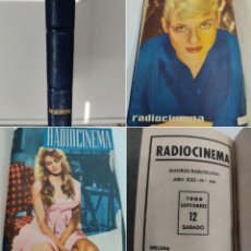 Cine: 1959 TOMO REVISTAS RADIOCINEMA 11 NUMEROS CON LAS PORTADAS LOMO EN PIEL BUEN ESTADO. Lote 272200758