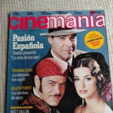 Cine: CINEMANÍA Nº 38 - NOVIEMBRE 1998 - PORTADA: LA NIÑA DE TUS OJOS - PENELOPE CRUZ. Lote 272280298