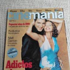 Cine: CINEMANÍA Nº 40 ENERO 1999 MATT DAMON. Lote 272280553