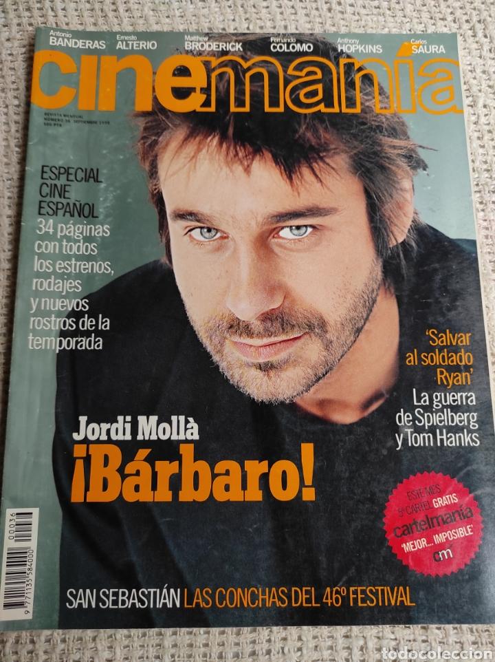 CINEMANÍA Nº 36 SEPTIEMBRE 1998; JORDI MOLLÀ, ANTONIO BANDERAS, (Cine - Revistas - Cinemanía)