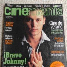 Cine: CINEMANÍA Nº 33 JUNIO DE 1998; JOHNNY DEPP, INGRID RUBIO, MARIA PUJALTE. Lote 272282033