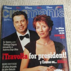 Cine: CINEMANÍA Nº 32 MAYO DE 1998; DUSTIN HOFFMAN, JOHN TRAVOLTA, NATALIA ESTRADA. Lote 272282143