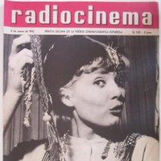 Cine: REVISTA RADICINEMA 1962 Nº 520 TODO SOBRE CINE, TEATRO Y MUSICA. Lote 272917153