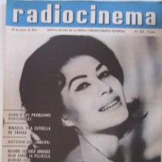 Cine: REVISTA RADICINEMA 1962 Nº 523 TODO SOBRE CINE, TEATRO Y MUSICA. Lote 272917523