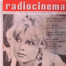 Cinema: REVISTA RADICINEMA 1962 Nº 524 TODO SOBRE CINE, TEATRO Y MUSICA. Lote 272917763