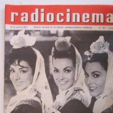 Cine: REVISTA RADICINEMA 1962 Nº 527 TODO SOBRE CINE, TEATRO Y MUSICA. Lote 272917818