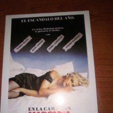 Cinema: MADONNA PROGRAMA DE MANO MODERNO.-. Lote 274006323