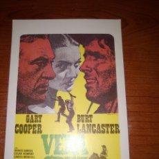 Cinema: VERACRUZ-PROGRAMA DE MANO MODERNO-COOPER-LANCASTER-SARA MONTIEL-OESTE-. Lote 274007908