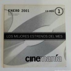 Cine: CD-ROM 1 CINEMANIA LOS MEJORES ESTRENOS DEL MES ENERO 2001. Lote 274318163
