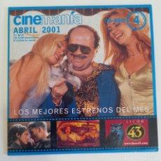 Cine: CD-ROM 4 CINEMANIA LOS MEJORES ESTRENOS DEL MES ABRIL 2001. Lote 274318673
