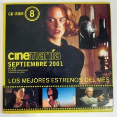 Cine: CD-ROM 8 CINEMANIA LOS MEJORES ESTRENOS DEL MES SEPTIEMBRE 2001. Lote 274319178