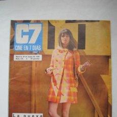 Cine: C7 CINE EN 7 DIAS. Nº 372. JULIE CHRISTIE / SHARON TATE / LIZ BARRET 1968. Lote 274866388
