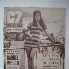 Cine: CINE EN 7 DIAS. Nº 373. RAQUEL WELCH / MARINA YALU - 1 JUNIO 1968. Lote 274867183
