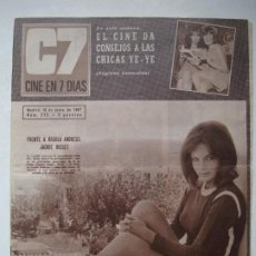 Cine: C7 REVISTA CINE EN 7 DÍAS - JUNIO 1967 - Nº 322 - JACKIE BISSET / CHICAS YE-YE / ROSSANA PODESTA. Lote 274871208
