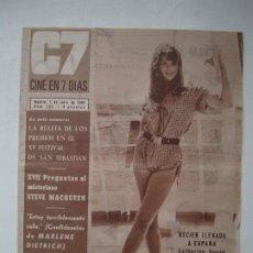 Cine: C7 CINE EN 7 DIAS - JULIO 1967 - Nº 325 - CATHERINE SPAAK / MARLENE DIETRICH / KARIN SKARRESO. Lote 274872068