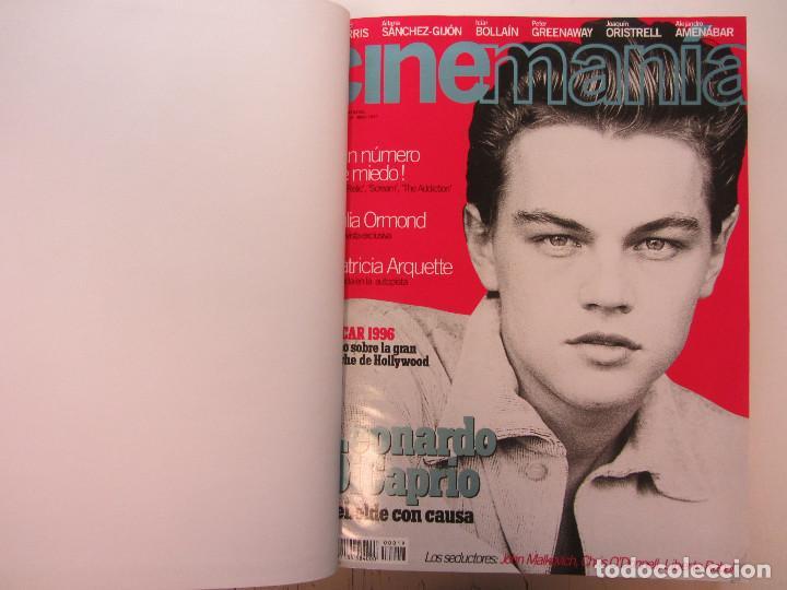 Cine: Cinemania. 6 revistas encuadernación de lujo. año 1996 y 1997 Nº 19, 20,21,22,23 y 24. - Foto 5 - 275128578