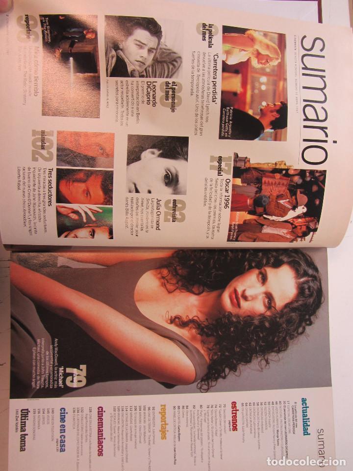 Cine: Cinemania. 6 revistas encuadernación de lujo. año 1996 y 1997 Nº 19, 20,21,22,23 y 24. - Foto 6 - 275128578