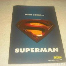 Cine: TODO SOBRE SUPERMAN . CINE Y VIDEO ACCION .SUPLEMENTO DEL N. 170. 46 PAGS.. Lote 275211688