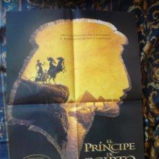 Cine: CARTEL DOBLE 40X60 APROX DE LAS PELICULAS: EL PRINCIPE DE EGIPTO Y LA MASCARA DEL ZORRO. Lote 276665373