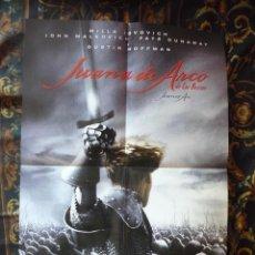 Cine: CARTEL DOBLE 40X60 APROX DE LAS PELICULAS: JUANA DE ARCO Y SLEEPY HOLLOW. Lote 276665698