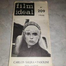 Cine: FILM IDEAL-CARLOS SAURA-Nº 209 1969-210 PAGS APROX. Lote 276939273