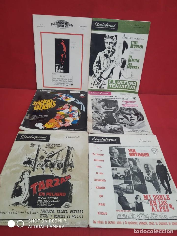 REVISTAS DE CINE ANTIGUAS CINEINFORME LOTE DE 60 UDS. AÑOS AÑOS 60/70 (Cine - Revistas - Otros)