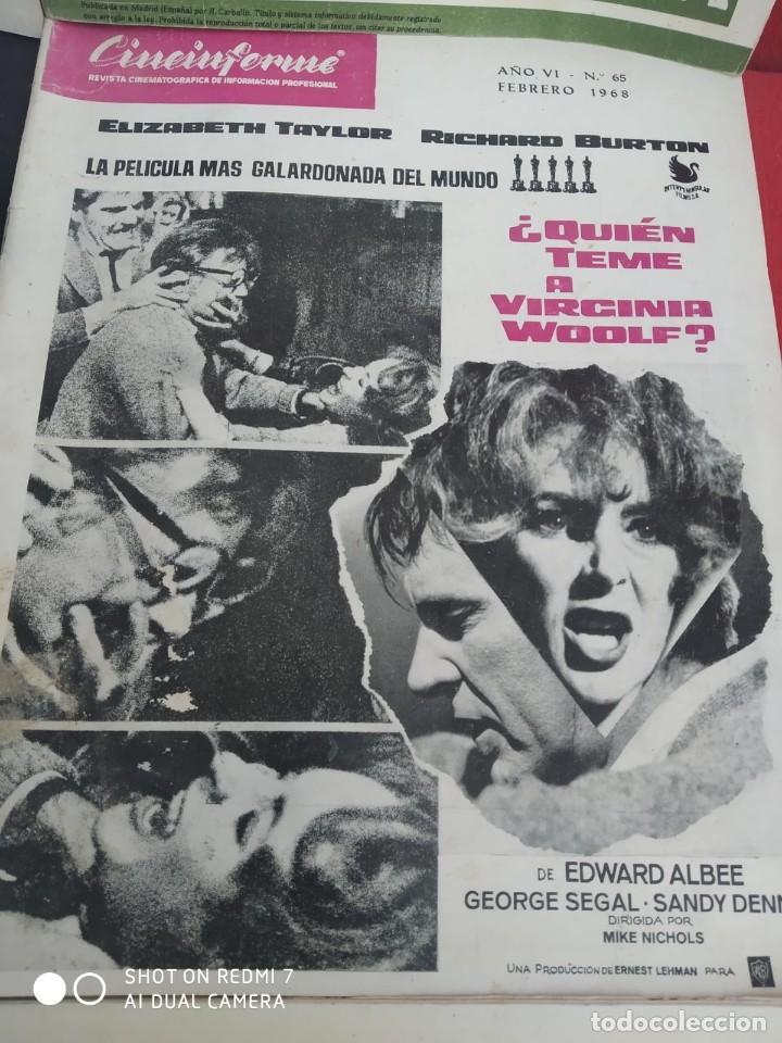 Cine: REVISTAS DE CINE ANTIGUAS CINEINFORME LOTE DE 60 UDS. AÑOS AÑOS 60/70 - Foto 4 - 277142498