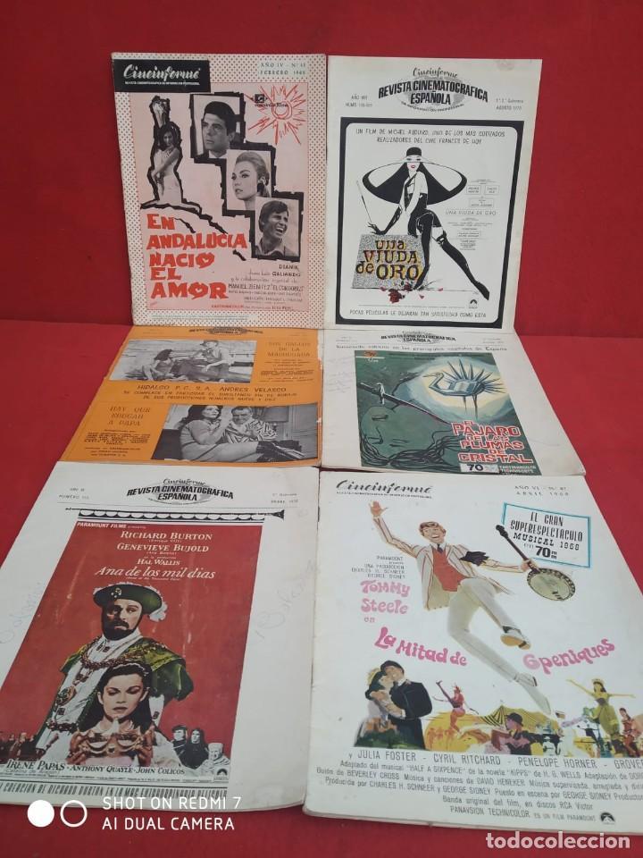 Cine: REVISTAS DE CINE ANTIGUAS CINEINFORME LOTE DE 60 UDS. AÑOS AÑOS 60/70 - Foto 10 - 277142498