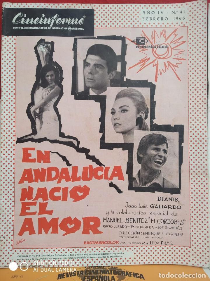 Cine: REVISTAS DE CINE ANTIGUAS CINEINFORME LOTE DE 60 UDS. AÑOS AÑOS 60/70 - Foto 12 - 277142498