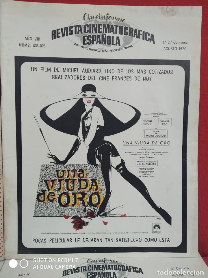 Cine: REVISTAS DE CINE ANTIGUAS CINEINFORME LOTE DE 60 UDS. AÑOS AÑOS 60/70 - Foto 13 - 277142498