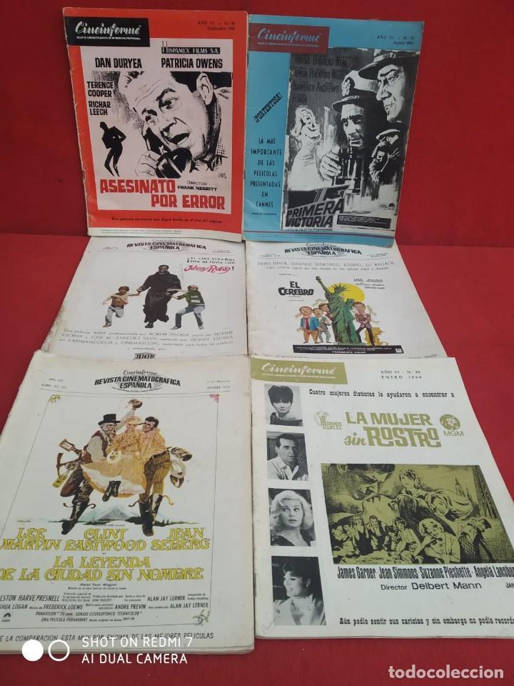 Cine: REVISTAS DE CINE ANTIGUAS CINEINFORME LOTE DE 60 UDS. AÑOS AÑOS 60/70 - Foto 15 - 277142498