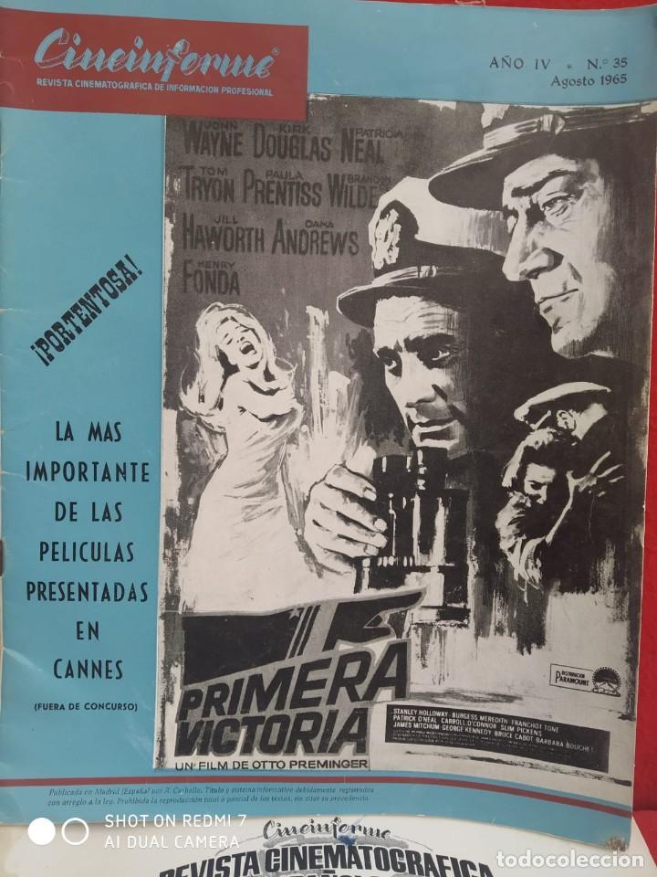 Cine: REVISTAS DE CINE ANTIGUAS CINEINFORME LOTE DE 60 UDS. AÑOS AÑOS 60/70 - Foto 17 - 277142498
