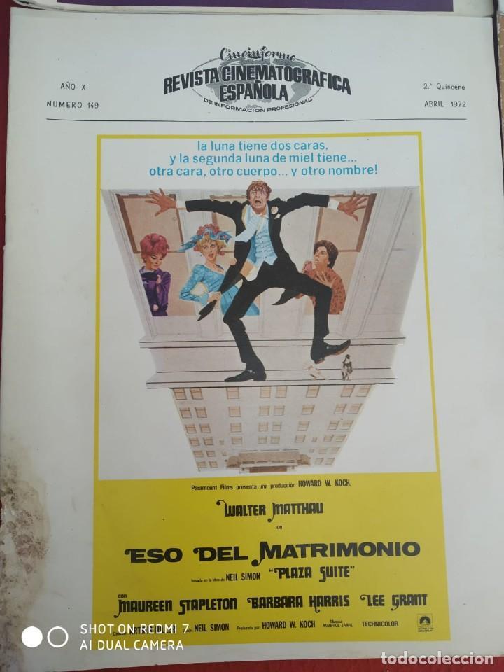 Cine: REVISTAS DE CINE ANTIGUAS CINEINFORME LOTE DE 60 UDS. AÑOS AÑOS 60/70 - Foto 25 - 277142498