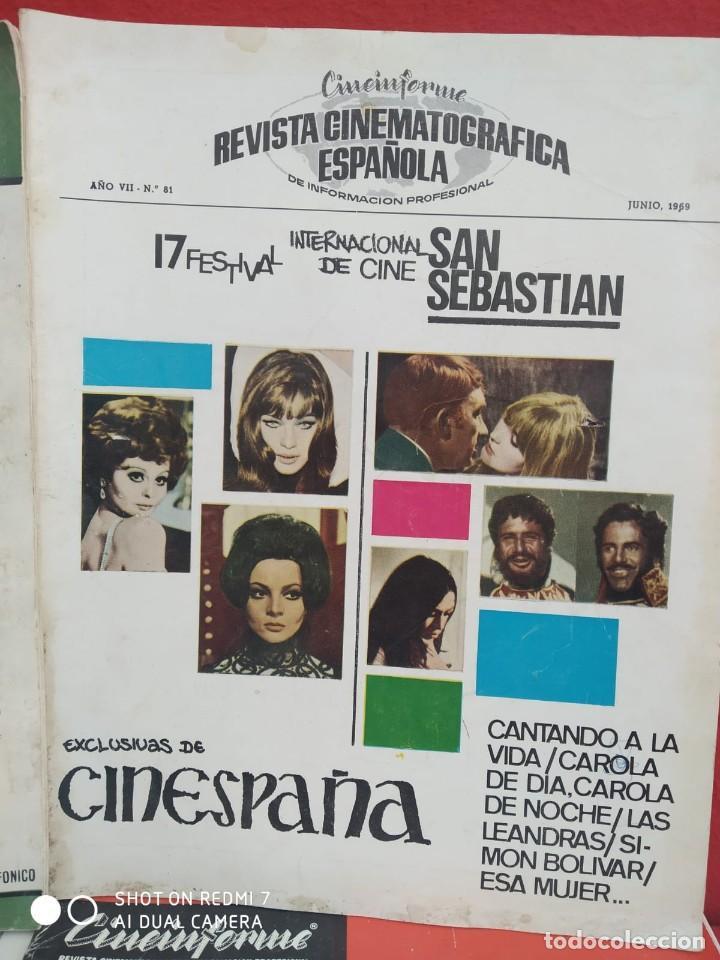Cine: REVISTAS DE CINE ANTIGUAS CINEINFORME LOTE DE 60 UDS. AÑOS AÑOS 60/70 - Foto 31 - 277142498