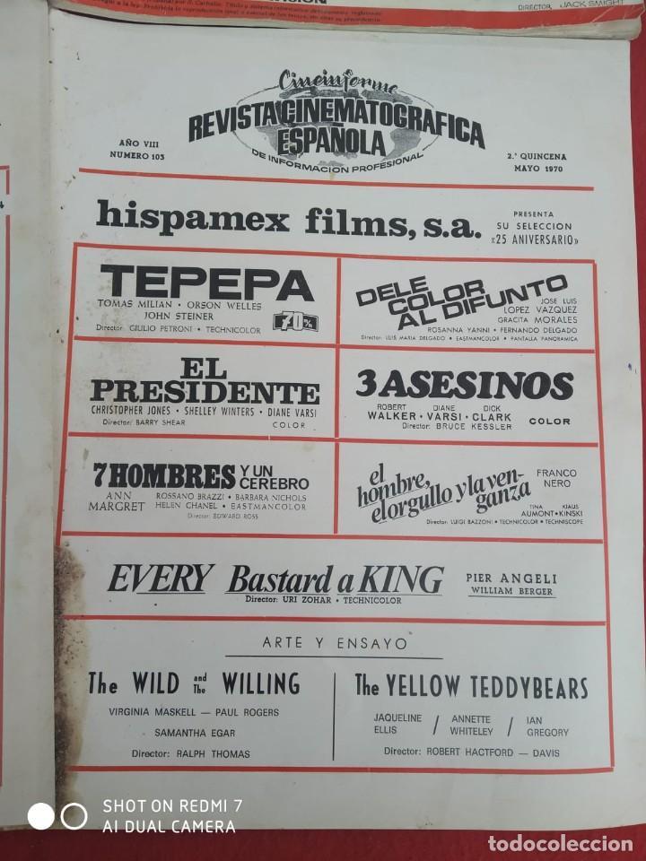 Cine: REVISTAS DE CINE ANTIGUAS CINEINFORME LOTE DE 60 UDS. AÑOS AÑOS 60/70 - Foto 35 - 277142498