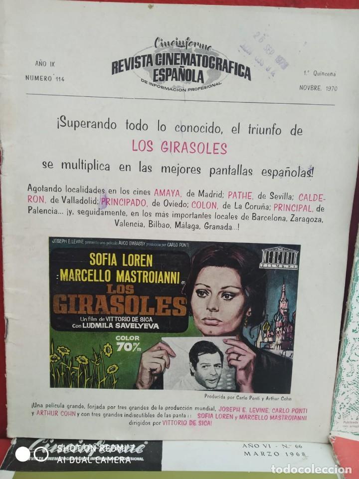 Cine: REVISTAS DE CINE ANTIGUAS CINEINFORME LOTE DE 60 UDS. AÑOS AÑOS 60/70 - Foto 46 - 277142498