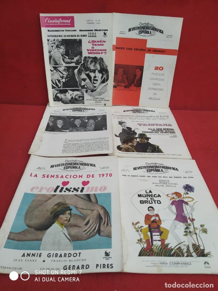 Cine: REVISTAS DE CINE ANTIGUAS CINEINFORME LOTE DE 60 UDS. AÑOS AÑOS 60/70 - Foto 50 - 277142498