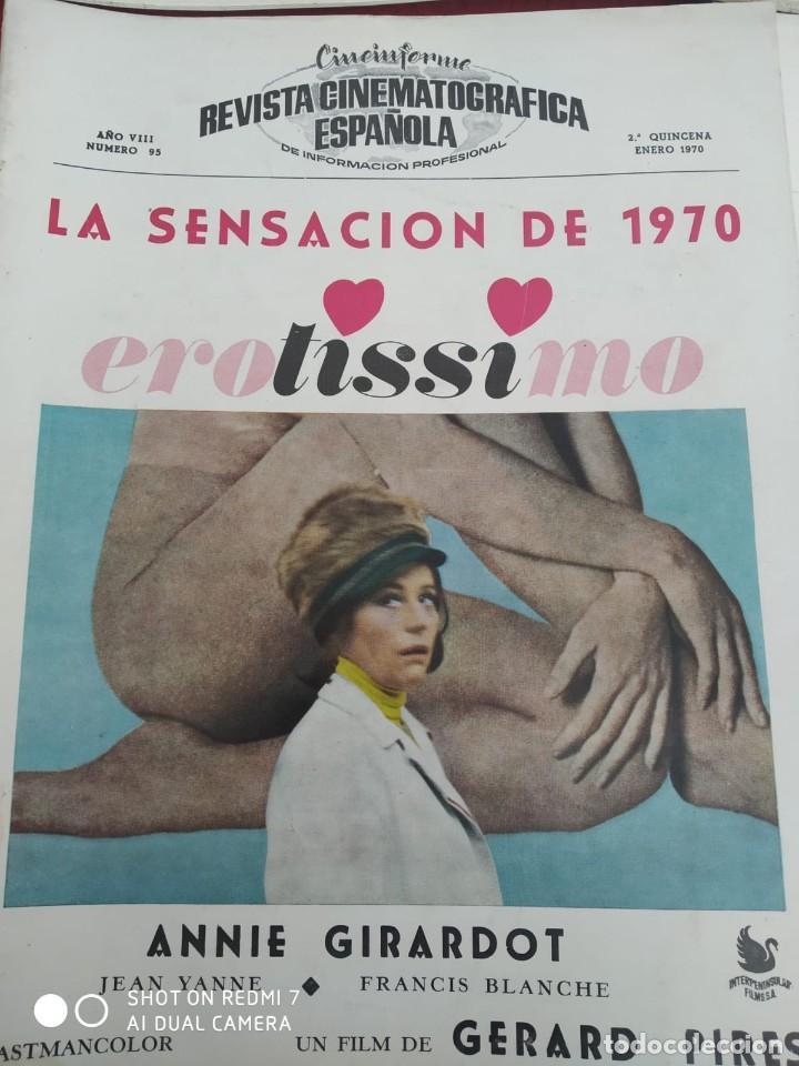 Cine: REVISTAS DE CINE ANTIGUAS CINEINFORME LOTE DE 60 UDS. AÑOS AÑOS 60/70 - Foto 54 - 277142498