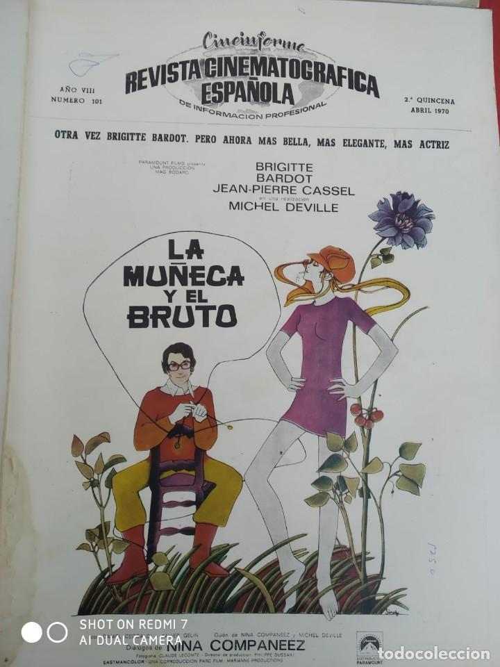 Cine: REVISTAS DE CINE ANTIGUAS CINEINFORME LOTE DE 60 UDS. AÑOS AÑOS 60/70 - Foto 55 - 277142498