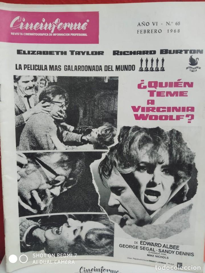 Cine: REVISTAS DE CINE ANTIGUAS CINEINFORME LOTE DE 60 UDS. AÑOS AÑOS 60/70 - Foto 56 - 277142498