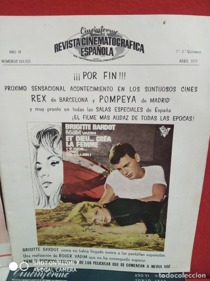Cine: REVISTAS DE CINE ANTIGUAS CINEINFORME LOTE DE 60 UDS. AÑOS AÑOS 60/70 - Foto 66 - 277142498