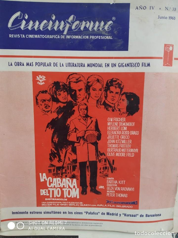 Cine: REVISTAS DE CINE ANTIGUAS CINEINFORME LOTE DE 60 UDS. AÑOS AÑOS 60/70 - Foto 67 - 277142498