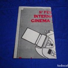 Cine: CARTEL 8º FESTIVAL INTERNACIONAL CINE SUPER 8. Lote 277493353