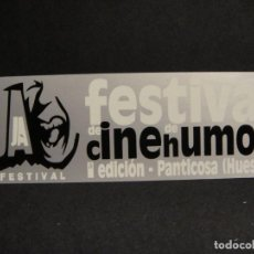 Cine: PEGATINA 1ª EDICION FESTIVAL DE CINE HUMOR - PANTICOSA AÑO. Lote 277521333